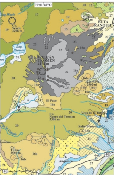 "Geological map (cropped). For full map with legend see <a href=""http://www.geologica.org.ar/archivos_usuarios/capitulo-51-Llambias-Tromen.pdf"" target=""_blank"">Tromen-Tilhue Volcanic Group</a> PDF"