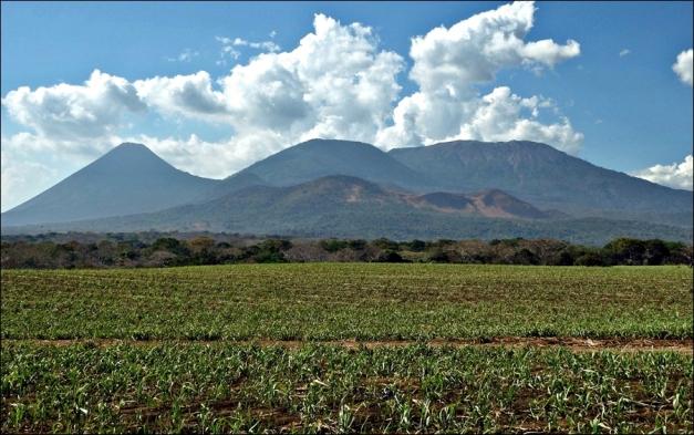 From left: the cones of Cerro Verde and Izalco and the Ilamatepec volcano 02/2015 (© erivs, via tripadvisor.com)